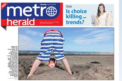 Metro Herald front page coverage